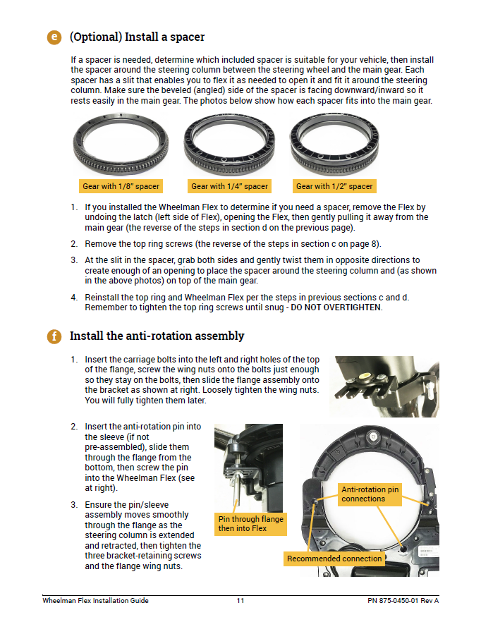 Wheelman Flex Installation Guide Fit Kit: Versatile 756