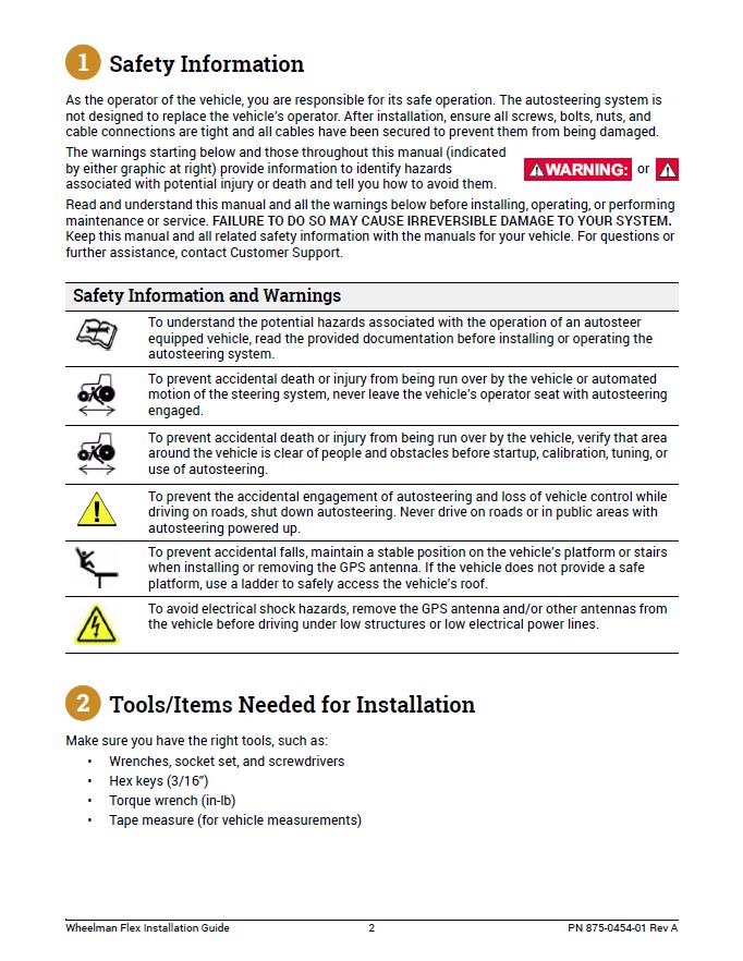 Wheelman Flex Installation Guide Fit Kit: Case IH rigid